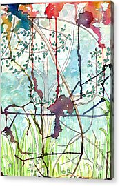 Acrylic Print featuring the painting Swing Uphill Abstract by Mukta Gupta