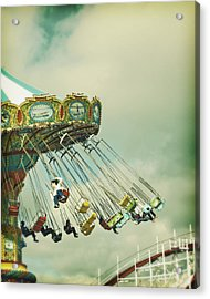 Swingin' - Santa Cruz Boardwalk Acrylic Print