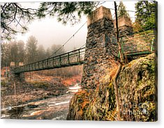 Acrylic Print featuring the photograph Swinging Bridge Before The Storm by Mark David Zahn Photography