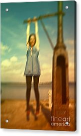 Swinging From Lampost  Acrylic Print