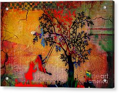 Swinging On A Tree Acrylic Print by Marvin Blaine