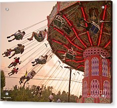 Swings At Kennywood Park Acrylic Print by Carrie Zahniser