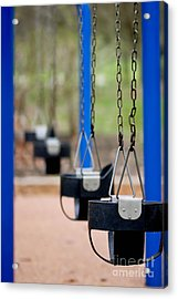 Swings In A Row Shallow Dof Acrylic Print by Amy Cicconi