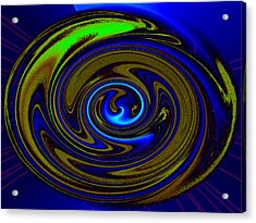 Swirl Acrylic Print by Claire Hull