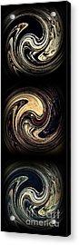 Swirl Design Triptych Acrylic Print by Sarah Loft