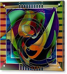 Swirl Acrylic Print by Iris Gelbart