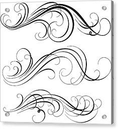 Swirl Acrylic Print by Mashuk
