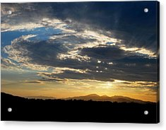 Acrylic Print featuring the photograph Swirl Sky Landscape by Matt Harang