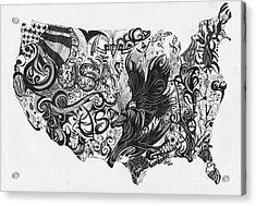 Swirlin Usa Acrylic Print