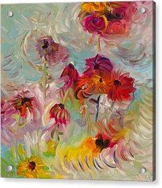 Swirling Flowers Acrylic Print