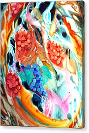 Swirling Grapes Acrylic Print
