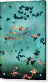 Swirling Leaves And Petals 1 Acrylic Print by Scott Campbell