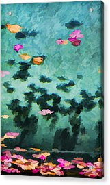 Swirling Leaves And Petals 4 Acrylic Print by Scott Campbell