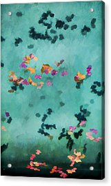 Swirling Leaves And Petals 5 Acrylic Print by Scott Campbell