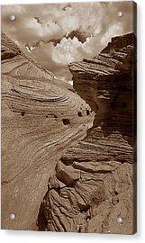 Swirling Ledge Acrylic Print