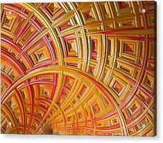 Swirling Rectangles Acrylic Print