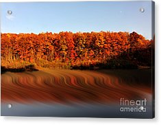 Swirling Reflections With Fall Colors Acrylic Print by Dan Friend