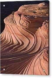 Swirling Sandstone At Sunset Acrylic Print