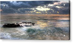 Swirling Seas Acrylic Print by Peter Tellone