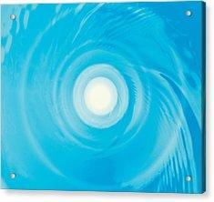 Swirling Water In Blue, Full Frame Acrylic Print