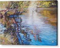 Swirls And Ripples - Goulburn River Acrylic Print by Lynda Robinson