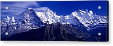 Swiss Mountains, Berner, Oberland Acrylic Print by Panoramic Images