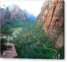 Acrylic Print featuring the photograph Switch-backs by Jon Emery