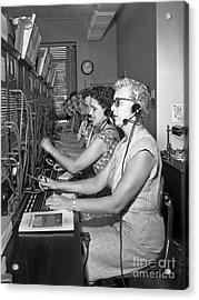 Switchboard Operators Acrylic Print
