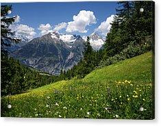 Switzerland Bietschhorn Acrylic Print