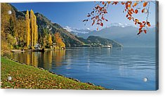 Switzerland, Canton Lucerne, Lake Acrylic Print by Panoramic Images