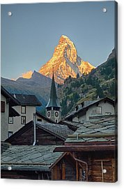 Switzerland, Zermatt, The Matterhorn Acrylic Print