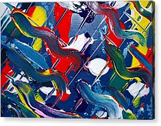 Acrylic Print featuring the painting Swivel by Kjirsten Collier