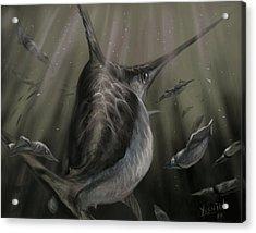 Sword Fish  Acrylic Print by Yusniel Santos