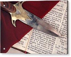 Sword Of The Spirit Acrylic Print by Pattie Calfy