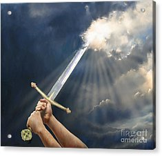 Sword Of The Spirit Acrylic Print by Tamer and Cindy Elsharouni