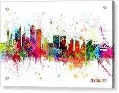 Sydney Australia Skyline Acrylic Print by Michael Tompsett