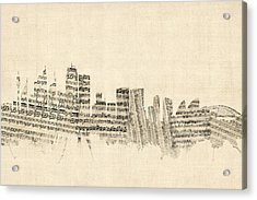 Sydney Australia Skyline Sheet Music Cityscape Acrylic Print