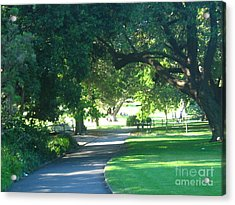 Acrylic Print featuring the photograph Sydney Botanical Gardens Walk by Leanne Seymour