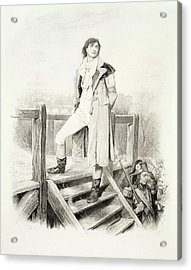 Sydney Carton, From Charles Dickens A Acrylic Print by Hablot Knight Browne
