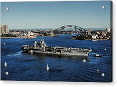 Acrylic Print featuring the photograph Sydney Harbor by John Swartz