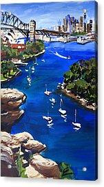 Sydney Harbour Boats Acrylic Print