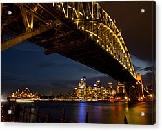 Acrylic Print featuring the photograph Sydney Harbour Bridge by Miroslava Jurcik