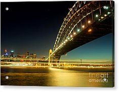 Acrylic Print featuring the photograph Sydney Harbour Bridge by Yew Kwang
