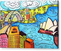 Sydney Harbour  Acrylic Print by Oiyee At Oystudio