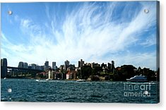Acrylic Print featuring the photograph Sydney Harbour Sky by Leanne Seymour