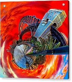 Blazing Skies Over Sydney Acrylic Print by Az Jackson