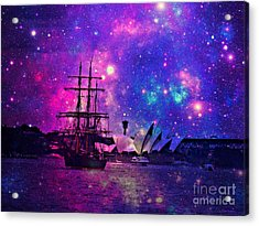 Sydney Harbour Through Time And Space Acrylic Print by Leanne Seymour