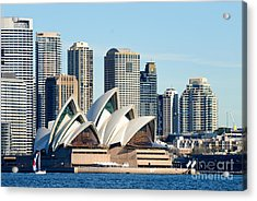 Sydney Opera House And Sydney Harbor - A Classic View Acrylic Print