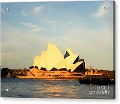 Sydney Opera House Painting Acrylic Print by Pixel Chimp