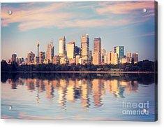 Sydney Skyline Sunrise Square Australia Acrylic Print